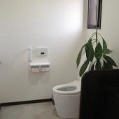 バリアフリー化した明るいトイレです。