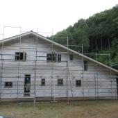 建設中の外観